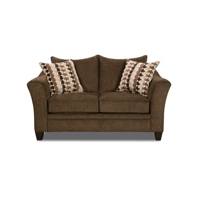 Degory Loveseat by Simmons Upholstery Upholstery: Brown