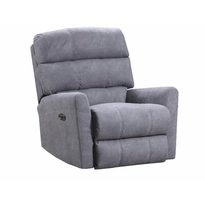 Isadora Recliner by Simmons Upholstery Upholstery: Gray, Recliner Type: Power