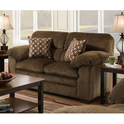 Derry Loveseat by Simmons Upholstery Upholstery: Brown