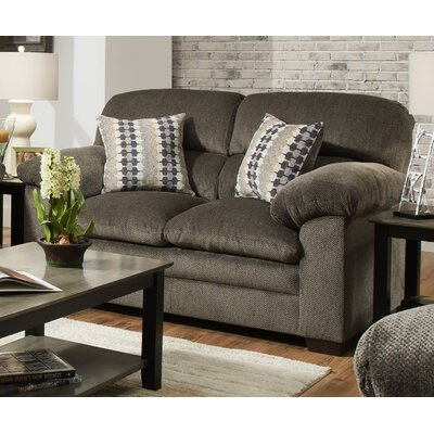Derry Loveseat by Simmons Upholstery Upholstery: Gray