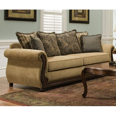 Bridgette Sofa by Simmons Upholstery Upholstery: Antique