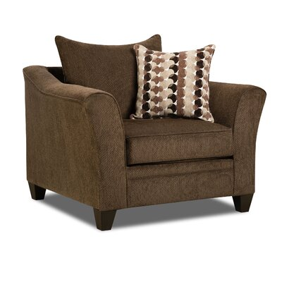 Degory Contemporary Armchair by Simmons Upholstery Upholstery: Brown