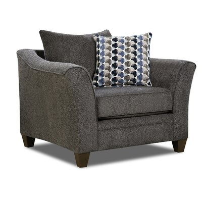Degory Contemporary Armchair by Simmons Upholstery Upholstery: Gray