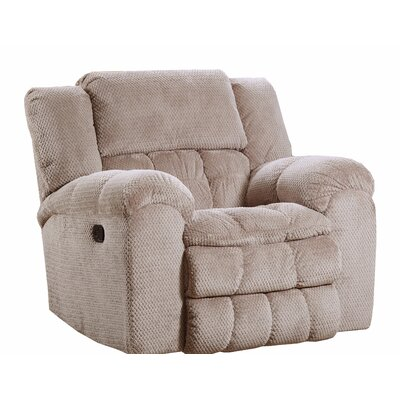 Henning Fabric Rocker Recliner by Simmons Upholstery Reclining Type: Power