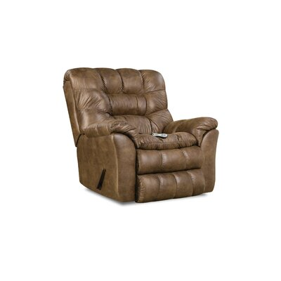 Camella Heat and Massage Rocker Recliner by Simmons Upholstery Upholstery: Tobacco