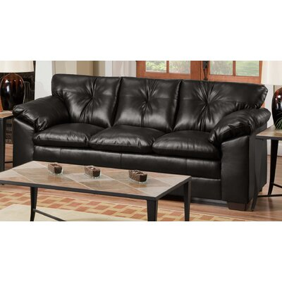 Eliott Upholstered Sofa by Simmons Upholstery Upholstery: Black