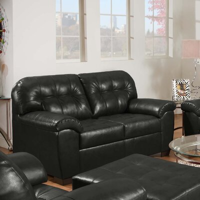 Simmons Upholstery 9569-02 Soho Onyx Soho Bonded Leather Loveseat