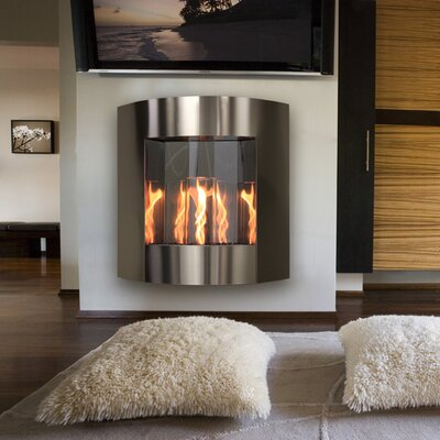 Inspiration Wall Mounted Gel Fuel Fireplace Finish: Black and Silver Vein