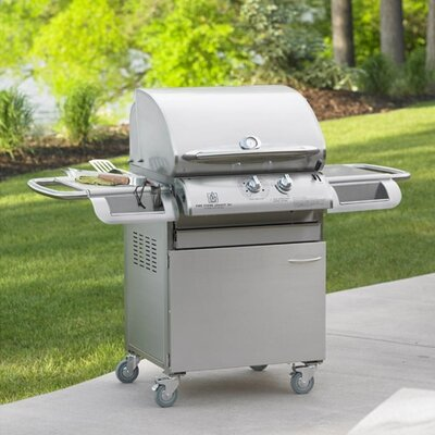 "The Outdoor Greatroom Company Legacy Cook Number 24"" Gas Grill Head with Deluxe Stainless Steel Cabinet at Sears.com"