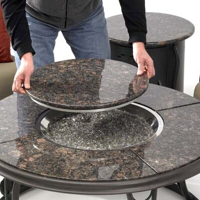 The Outdoor Greatroom Company Fire Pit Table with Granite Top and Lazy Susan at Sears.com