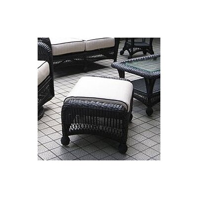 The Outdoor Greatroom Company Ebony & Ivory Wicker Ottoman with Cushion at Sears.com