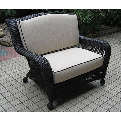 The Outdoor Greatroom Company Ebony & Ivory Wicker Deep Seating Chair and a Half at Sears.com