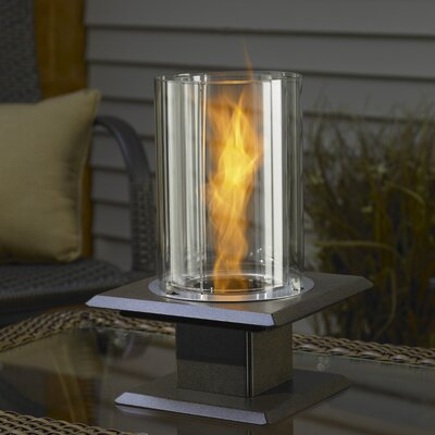 Allure Sedona Tabletop Gel Fuel Fireplace Finish: Brass