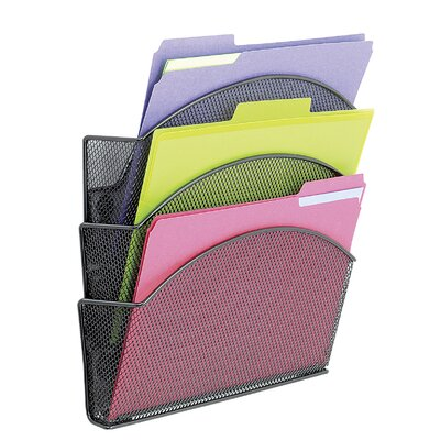 Onyx Magnetic Mesh Panel Accessories, 3 File Pocket File Pocket Size: Triple
