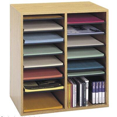 Small Adjustable-Compartment Literature Organizer Finish: Oak
