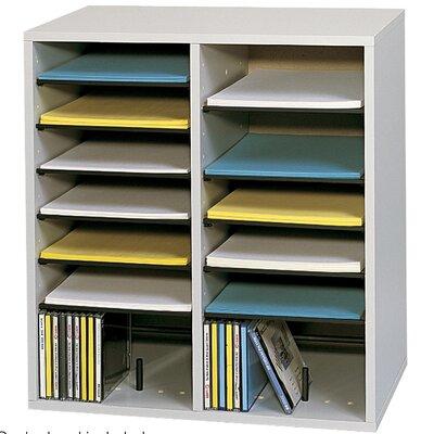 Small Adjustable-Compartment Literature Organizer Finish: Gray