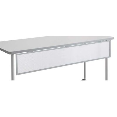 9 H x 66 W Desk Privacy Panel Finish: Silver, Size: 72