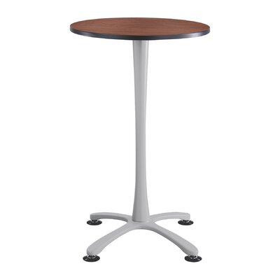 Cha-Cha 30 Round Table Top Finish: Cherry, Base Finish: Silver