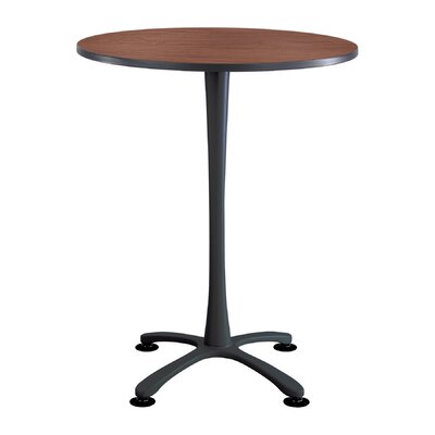 Cha Cha Round Gathering Table Base Finish: Black, Top Finish: Cherry