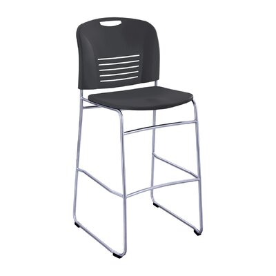 Vy 30 inch Bar Stool Upholstery: Black