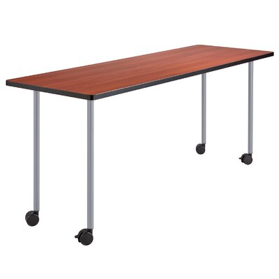 29 W Impromptu Training Table with Wheels Tabletop Finish: Silver