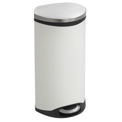 Safco Products Step-On 7.5 Gallon Receptacle - Color: White