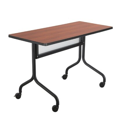 Rectangle Training Table with Wheels Tabletop Finish: Cherry, Size: 72 W