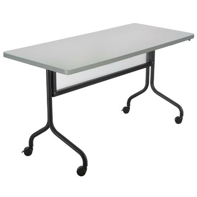 Rectangle Training Table with Wheels Tabletop Finish: Gray, Size: 48 W