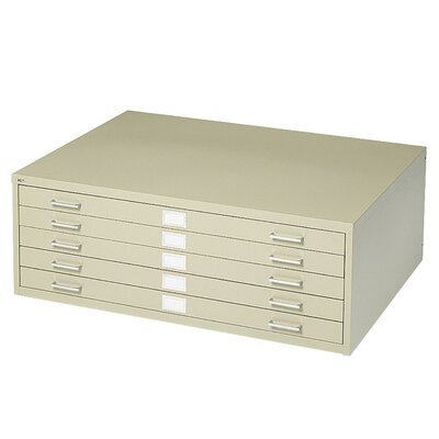Five-Drawer Flat File Filing Cabinet Finish: Tropic Sand