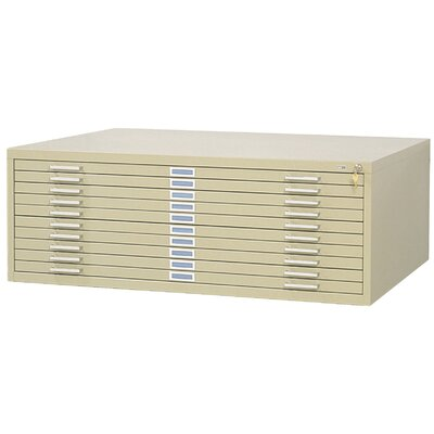 Ten-Drawer Flat File Filing Cabinet Finish: Tropic Sand