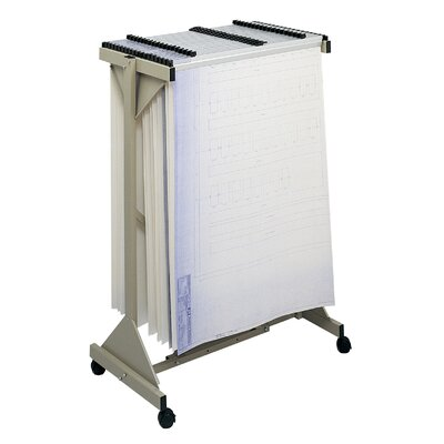 Safco Sheet File Mobile Plan Hanging Filing Cart