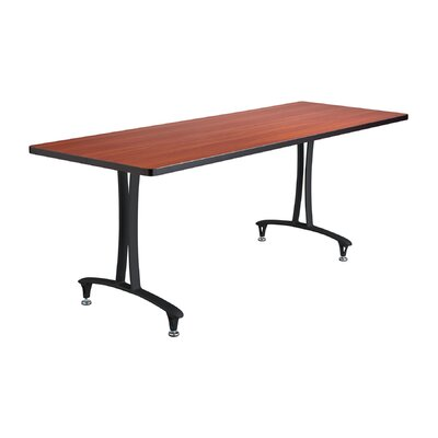 Rumba� Rectangular Conference Table Base Finish: Black, Top Finish: Cherry, Size: 6 L