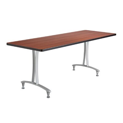 Rumba Rectangular Conference Table Top Finish: Cherry, Base Finish: Metallic Gray, Size: 6 L