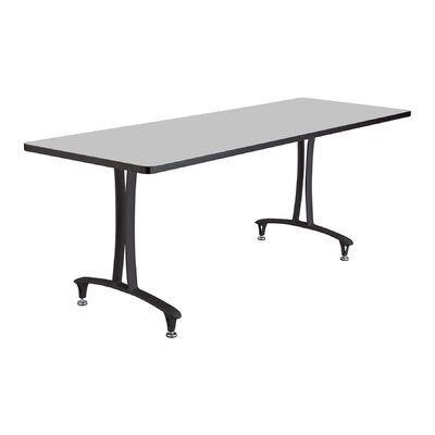 Rumba� Rectangular Conference Table Base Finish: Black, Top Finish: Gray, Size: 6' L