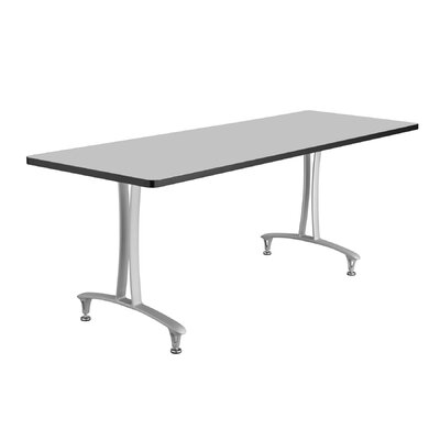 Rumba Rectangular Conference Table Base Finish: Metallic Gray, Top Finish: Gray, Size: 6 L