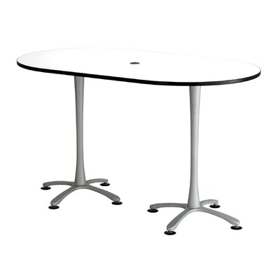 Cha-Cha Table Top Finish: White, Size: 42 H x 72 W x 42 D