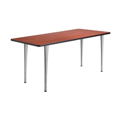 24 W Rumba Training Table Base Finish: Metallic Gray, Tabletop Finish: Cherry, Size: 6 L