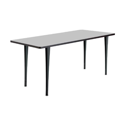24 W Rumba Training Table Base Finish: Black, Tabletop Finish: Gray, Size: 6 L