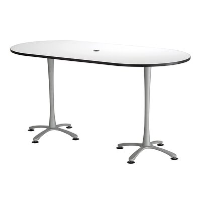 Cha-Cha Table Top Finish: White, Size: 42 H x 84 W x 42 D