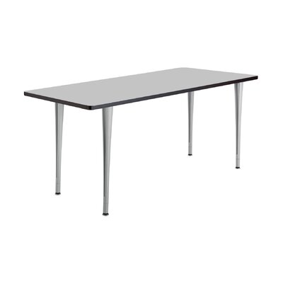 24 W Rumba Training Table Base Finish: Metallic Gray, Tabletop Finish: Gray, Size: 6 L