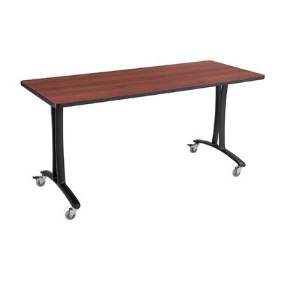 Rumba Training Table with Wheels Base Finish: Black, Tabletop Finish: Cherry, Size: 5 L