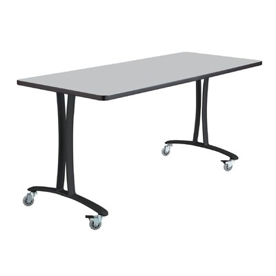 Rumba Training Table with Wheels Base Finish: Black, Tabletop Finish: Gray, Size: 5 L
