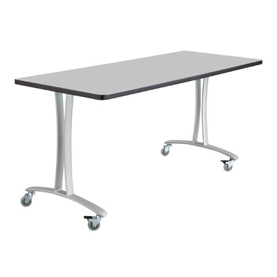 Rumba Training Table with Wheels Base Finish: Metallic Gray, Tabletop Finish: Gray, Size: 5 L