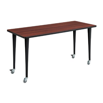 24 W Rumba Training Table with Wheels Base Finish: Black, Tabletop Finish: Cherry, Size: 6 L