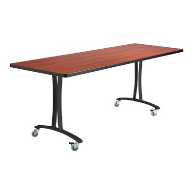 Rumba Training Table with Wheels Base Finish: Black, Tabletop Finish: Cherry, Size: 6 L