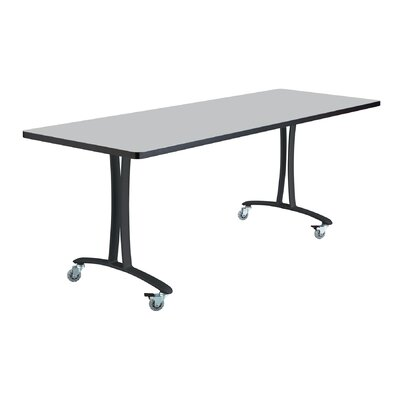 Rumba Training Table with Wheels Base Finish: Black, Tabletop Finish: Gray, Size: 6 L