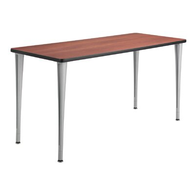 24 W Rumba Training Table Base Finish: Metallic Gray, Tabletop Finish: Cherry, Size: 5 L