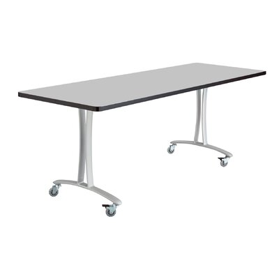 Rumba Training Table with Wheels Base Finish: Metallic Gray, Tabletop Finish: Gray, Size: 6' L