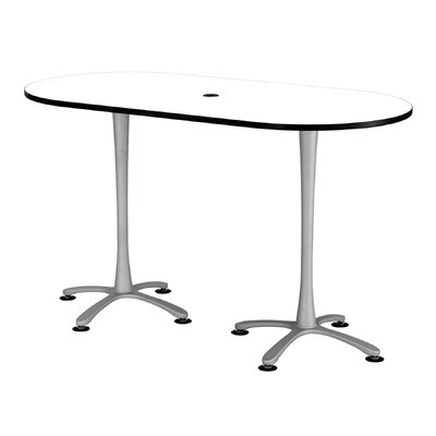 Cha-Cha Table Size: 42 H x 72 W x 36 D, Top Finish: White