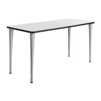 24 W Rumba Training Table Base Finish: Metallic Gray, Tabletop Finish: Gray, Size: 5 L